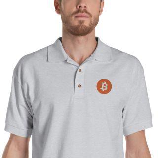 Embroidered Polo Shirt – Bitcoin Logo