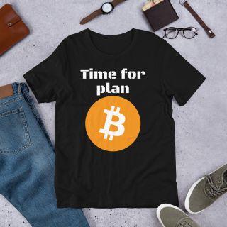 Short-Sleeve Unisex T-Shirt – time for plan B – Bitcoin