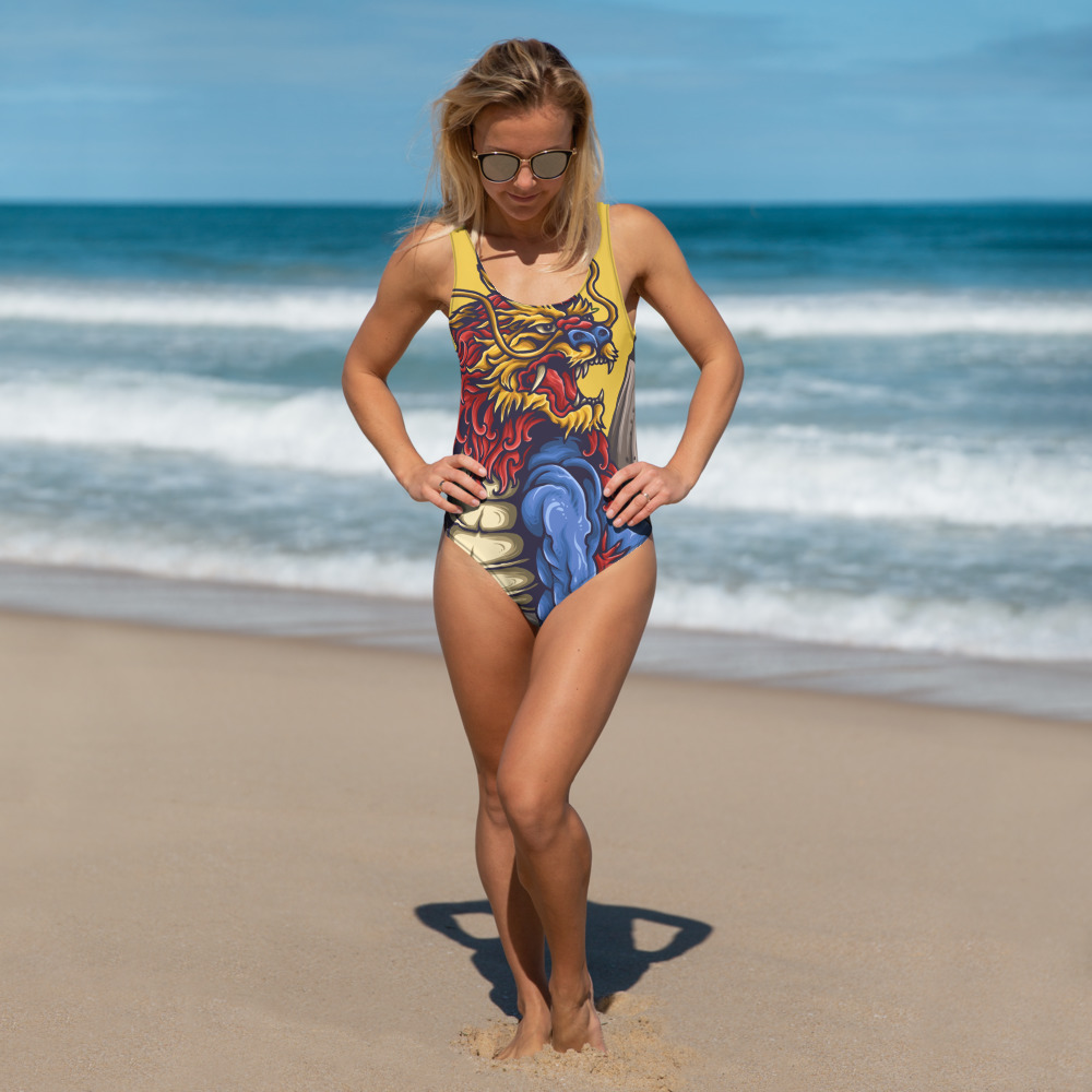 One-Piece Swimsuit – japanese lion