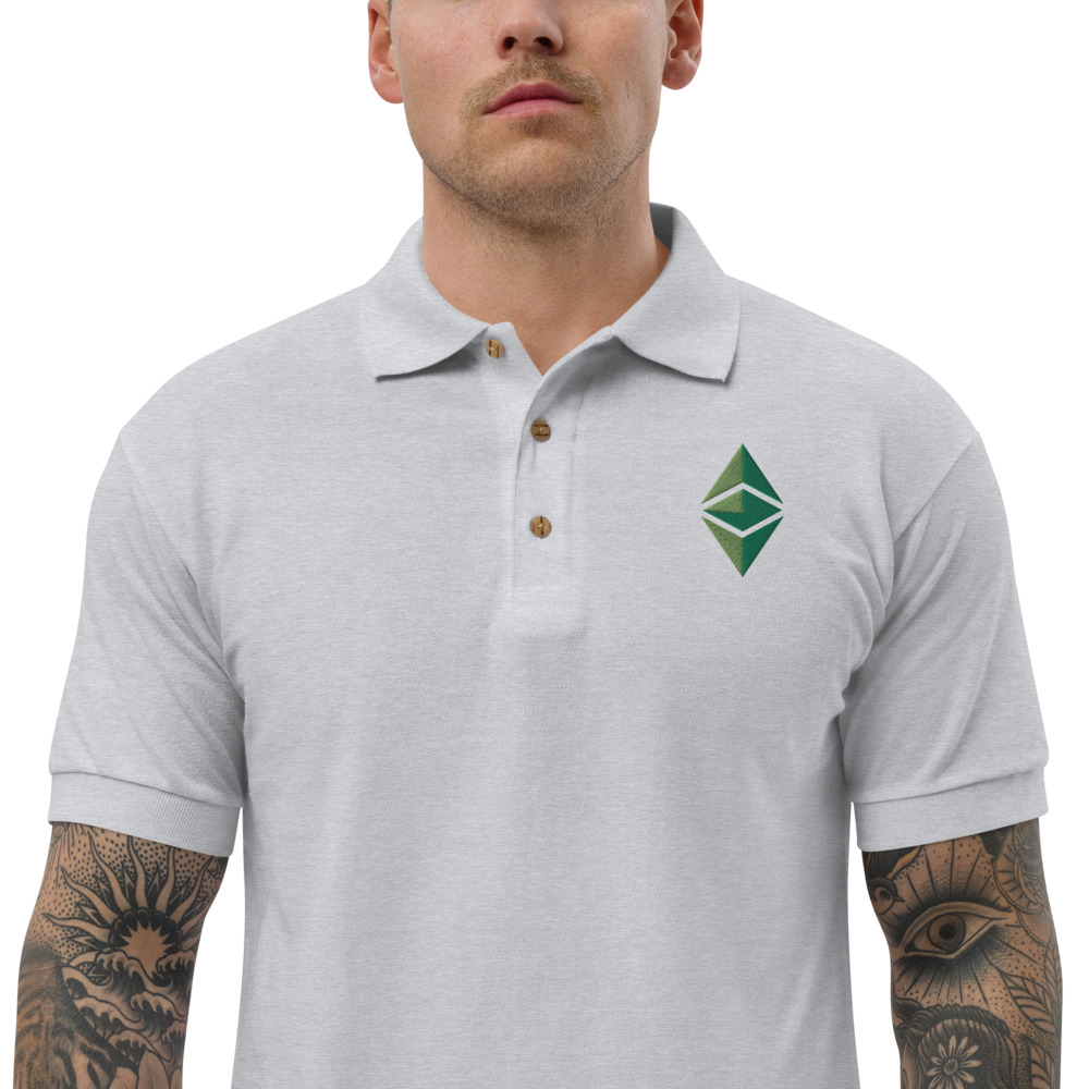 Embroidered Polo Shirt – Ethereum Classic ETC