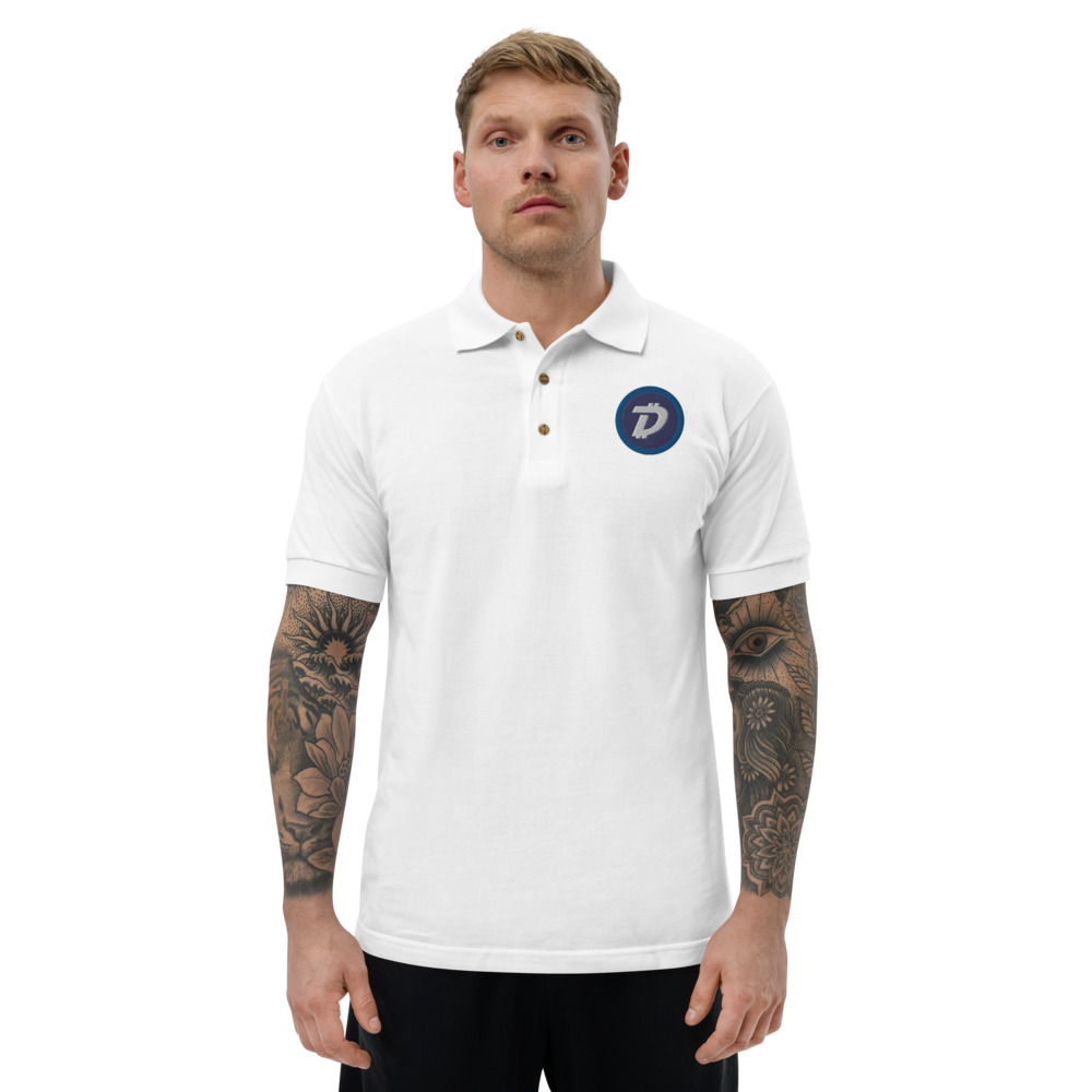 Embroidered Polo Shirt – Digibyte DGB