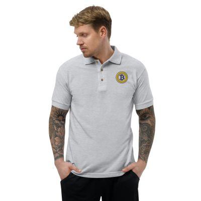 Embroidered Polo Shirt – Bitcoin Gold BTG