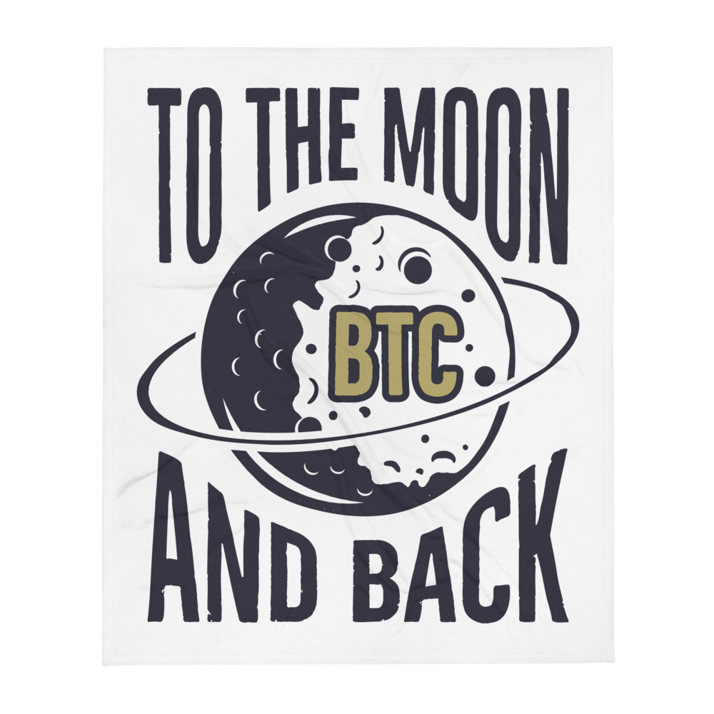 Throw Blanket – Bitcoin to the moon and back