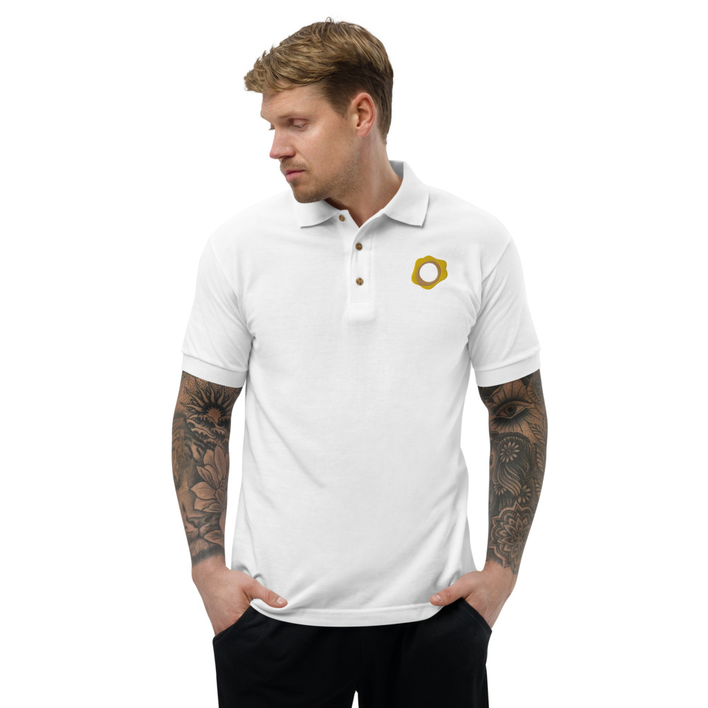 Embroidered Polo Shirt – Paxos Gold