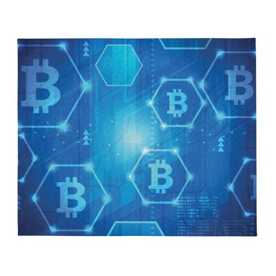 Throw Blanket – Bitcoin Pattern