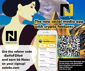 Support Note Blockchain with ads