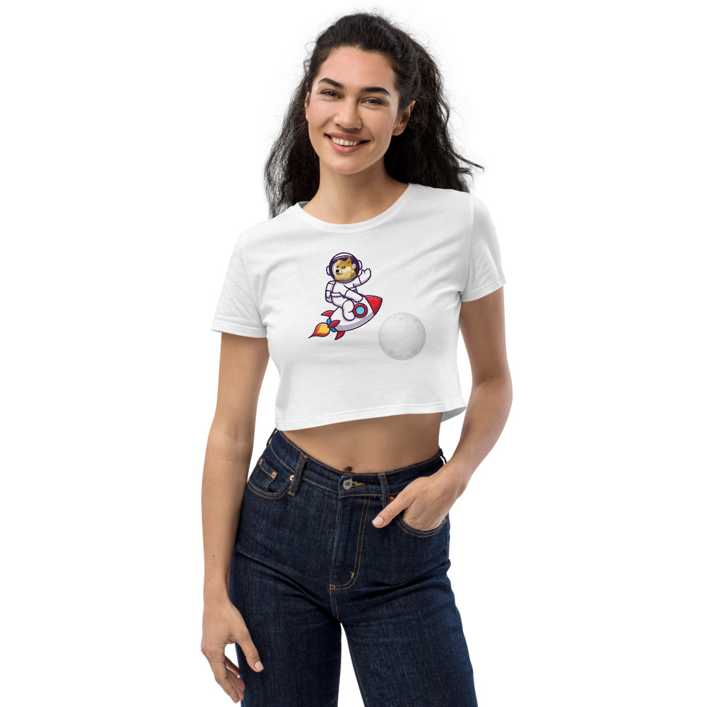 Organic Crop Top – Dogecoin to the moon